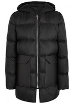 Rick Owens Black Quilted Shell Coat