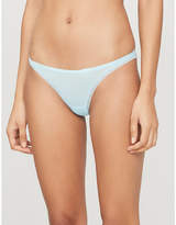 Calvin Klein Lace-trimmed high-rise stretch-jersey thong