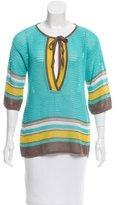 M Missoni Open Knit Short Sleeve Top