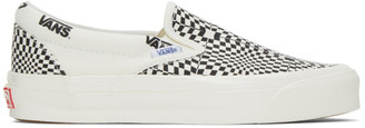 Vans Black and White Check OG Classic Slip-On LX Sneakers