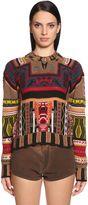 Etro Intarsia Wool & Cashmere Blend S