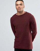 Solid Ribbed Knitted Sweater