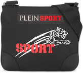 Plein Sport logo patch messenger bag