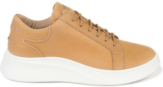 Crafted Society Matteo Low Sneaker - All Tan Nubuck Calf Leather / White Outsole