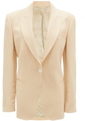 Acne Studios Jereni Single-breasted Crepe Jacket - Cream