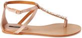Forever 21 Chain Trim T-Strap Sandals