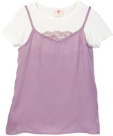 Hip Hammered Satin Twofer Top (Little Girls & Big Girls)