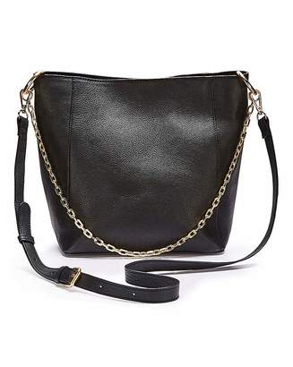 Simply Be Premium Leather Hobo With Chain Detail
