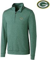 Cutter & Buck Men's Green Bay Packers Shoreline Quarter-Zip Pullover