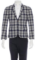 Thom Browne Plaid Wool Short Blazer