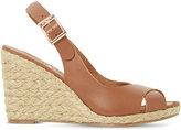 Dune Kia leather wedge sandals