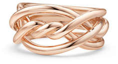 David Yurman 11.5mm Continuance 18K Rose Gold Ring, Size 7