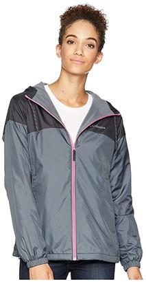 Columbia Flash Forward Lined Windbreaker (Graphite/Shark/Wild Geranium) Women's Coat