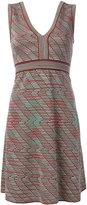 M Missoni ribbed patterned shift dress - women - Cotton/Polyamide/Viscose/Metallic Fibre - 42