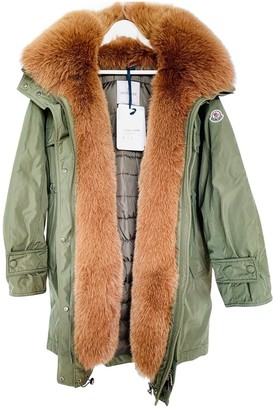 Moncler Long Green Coat for Women