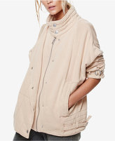 Free People Oversized Mock-Neck Jacket
