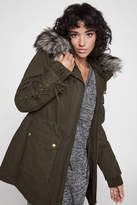 BCBGeneration Anorak Faux-Fur Hooded Jacket