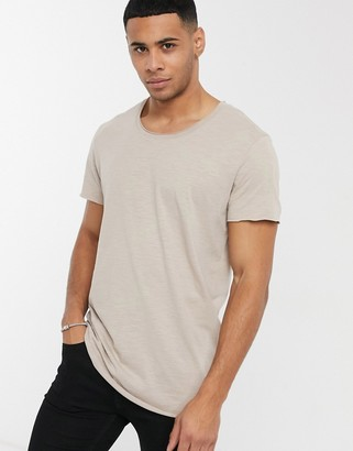 Jack and Jones essentials raw edge t-shirt