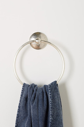 Anthropologie Hammered Towel Ring By in Grey Size M
