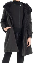 Max Studio Water Resistant Coat With Faux Fur Lining