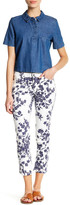 philosophy Printed Woven Ankle Jean (Petite)
