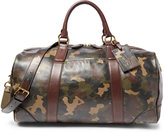 Polo Ralph Lauren Camouflage-Print Leather Duffel Bag
