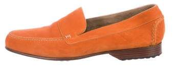 Hermes Suede Round-Toe Loafers