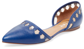 French Sole Vivaldi Leather D'Orsay Flat