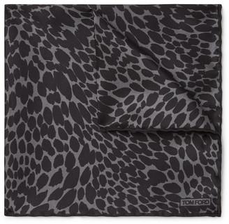 Tom Ford Leopard-Print Silk-Twill Pocket Square