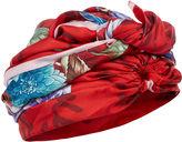 DEE DI VITA Red Silk Dahlia Turban