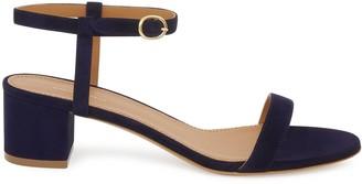 Mansur Gavriel Suede 40mm Ankle Strap Sandal - Blu