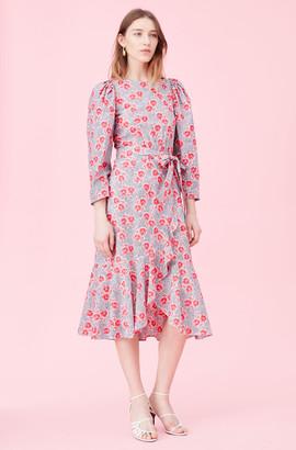 Rebecca Taylor Coral Fleur Poplin Dress
