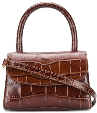 BY FAR Crocodile-Embossed Tote Bag