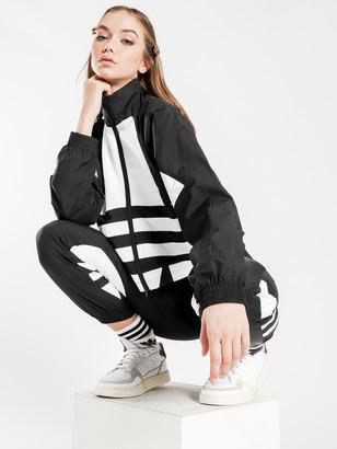 adidas Large Logo Jacket in Black White