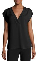 Theory Orwin Classic Georgette V-Neck Top
