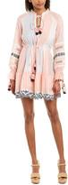 HEMANT AND NANDITA Lace-Trim Mini Dress