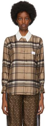 Burberry Brown Check Juliette Shirt