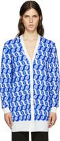 Emilio Pucci Blue Merino Cardigan