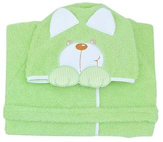 Andy & Helen 932L Dressing Gown Sleeves Embroidered Green