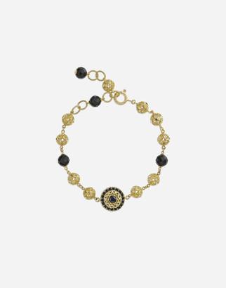 Dolce & Gabbana Gold Bracelet With Black Sapphires
