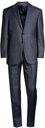 Canali Tonal Plaid Wool Suit