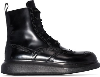 Alexander McQueen chunky sole Derby boots