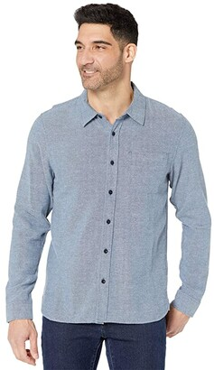 Outerknown Transitional Flannel Shirt (Insignia Blue) Men's Clothing