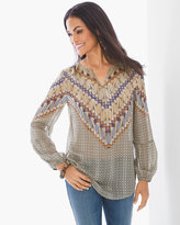 Chico's Geometric Tribal Tunic