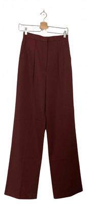 Vilshenko Burgundy Cotton Trousers