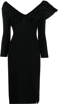 Givenchy Ruffle-Shoulder Dress