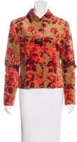 Carolina Herrera Floral Print Velvet Jacket