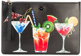 Dolce & Gabbana cocktail print pouch - women - Leather - One Size