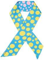 "Valentino Women's Silk Polka-Dot Scarf 33"" x 2.5"""