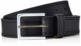 Amazon Brand - Hikaro Men's Leather Belt Multicolour (Gingham Black / Gingham Red) 34